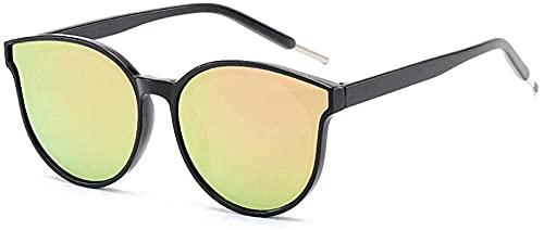Gafas de sol retro marco redondo gafas de sol moda colorido pasta gafas de sol Sra. Sewage