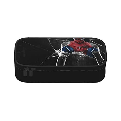 Estuche de lápices de colores Spiderman de gran capacidad, organizador con cremallera para lápices de acuarela, bolígrafos de gel y marcadores para artistas