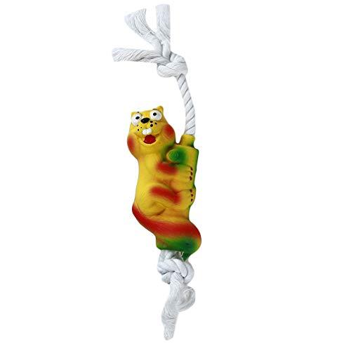 L_shop Hund Kauen Sounding Toy Schlange Eichhörnchen Bär Form Haustier Spielzeug Seil Welpen Interaktive Spiel Spielzeug, Eichhörnchen, 16 * 5 cm