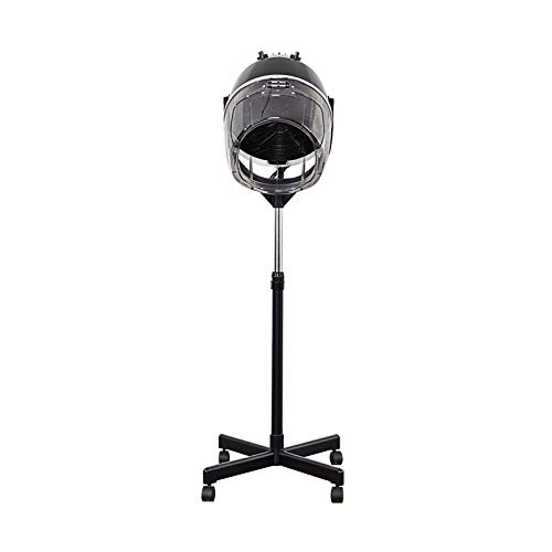 Bonnet Hair Dryer,Professional 950W Adjustable Hooded Floor Hair Bonnet Dryer Stand Up Rolling Base with Wheels Salon Equipment for Beauty Salon Equipment Home (Black)