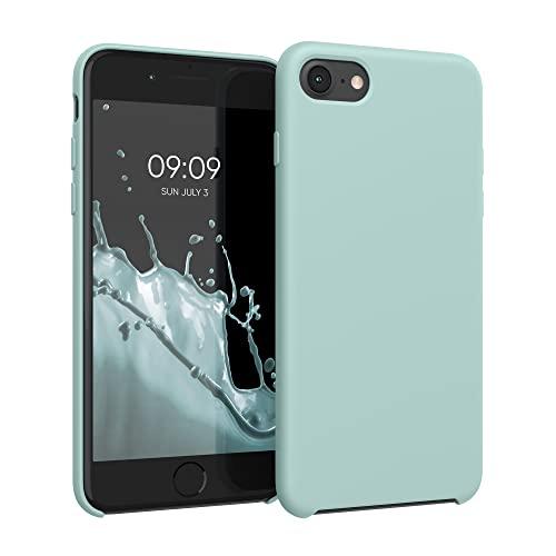kwmobile Coque Compatible avec Apple iPhone 7/8 / SE (2020) - Housse de téléphone Protection Souple en TPU Silicone - Menthe glaciale