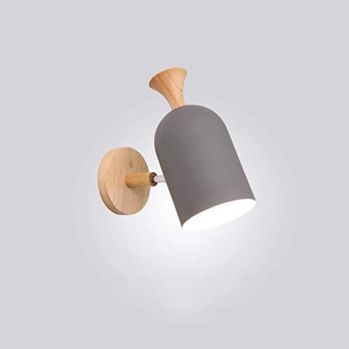 Applique Nordique Solide Bois Chambre Mur Lampe Moderne Minimaliste Fond Lampe Murale Salon Créative Allée Lampes De Chevet (A)