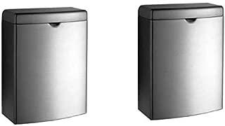 Bobrick B-270 Stainless Surface Mounted Sanitary Napkin Disposal (Pack of 2)