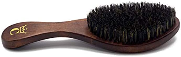 """NEW Crown Quality Products - Dark Walnut - MEDIUM BRISTLE Contour Wave Brush - """"THE ORIGINAL"""" Curved Wave Brush - 360 Waves in Days"""