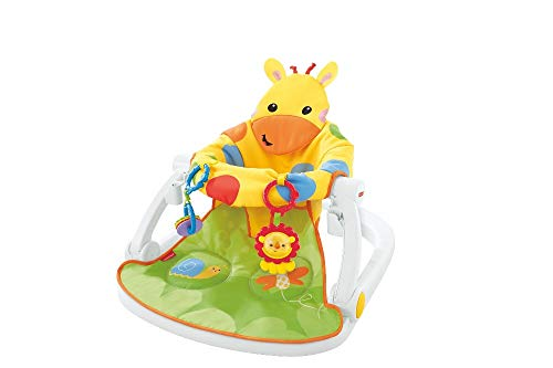 Fisher-Price DJD81 Giraffe Sit-Me-Up Floor Seat, Portable Baby Chair or Seat with Removable Tray, Rattle and Teething Toy