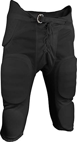 Sports Unlimited Double Knit Adult Integrated Football Pants, Black, XX-Large