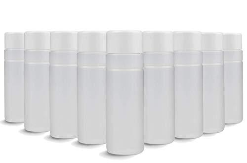 Eubecos Botellas de Plástico Hdpe 100ML - Vacío - 10 Piezas Top Calidad y Hecho en Alemania! Doble Cierre para Uñas