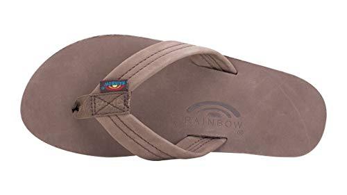 Rainbow Sandals Single Layer Premier Leather Men's Sandal (Expresso) Size 11/12 (XL)