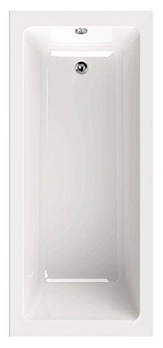 'aquaSu® I Acryl - Badewanne linHa I 180 x 80 cm I Weiß I Wanne I Badewanne I Bad I Badezimmer