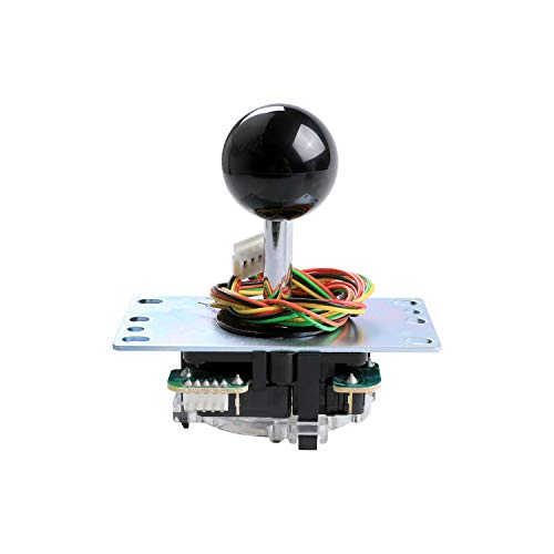 Sanwa Denshi Japan JLF-TP-8YT Black Ball Top Handle Arcade Joystick Part 4 & 8 Way Adjustable - Hori Fight Stick Repair Part - Mad Catz SF4 Turnier Joystick kompatibel