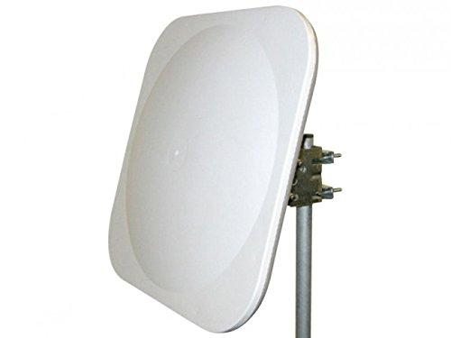 Antena parabólica digital plana portátil o fija
