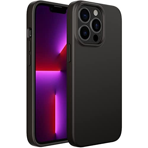 JETech Silikon Hülle Kompatibel mit iPhone 13 Pro 6,1 Zoll, Ganzkörperschutz handyhülle mit Seidig-Weicher Berühren, Stoßfeste Hülle mit Mikrofaser-Futter, Schwarz