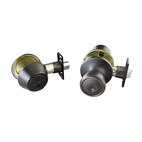 Design House 728733 Terrace 6-Way Universal Entry Door Knob and Deadbolt Combo, Oil Rubbed Bronze