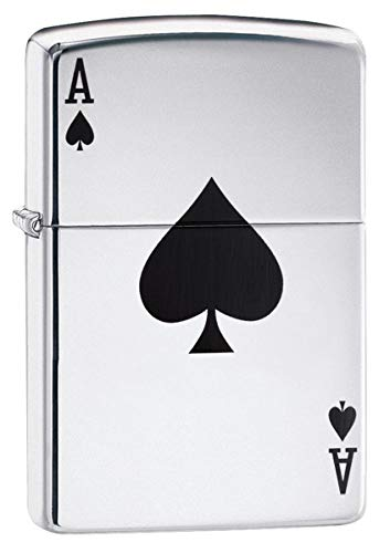 Personalized ZIPPO Windproof Ace of Spades Lighter - Free Laser Engraving (24011)
