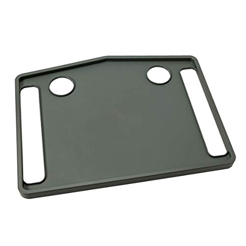 Easy Comforts Walker Tray with 2 Cup Holders and Raised Edges, Gray,...