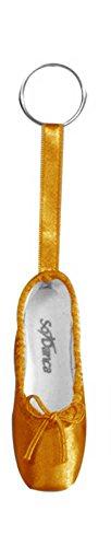 Schlüsselanhänger in Form eines Ballettschuhes mit Schlüsselring - Ballett Geschenkartikel (gold-farben)