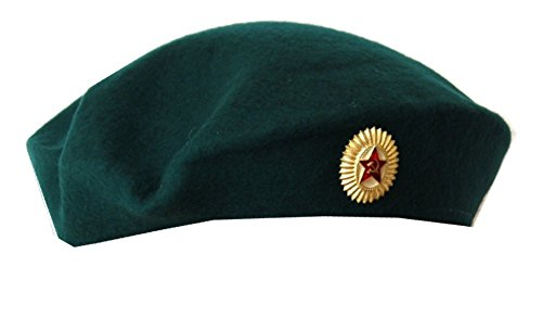 Soviet Army Original Military Female Officer Beret. Turquoise