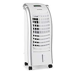 Klarstein Maxfresh - 3-in-1 mobiles Klimagerät: Luftkühler, Ventilator & Luftbefeuchter, 55 Watt, 444 m³/h, 4 Geschwindigkeitsstufen, Oszillation, 51 dB, Timer bis 15 h, Wassertank: 6 Liter, weiß