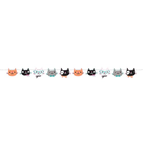Creative Converting 329408 Cute Cats Shaped Banner - 1 Pc
