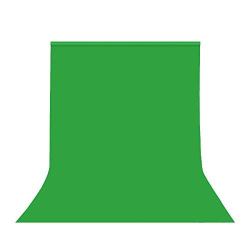 Hemmotop 背景布 緑 クロマキー 撮影用 グリーンバック 150 x 200 cm zoomのバーチャル背景 バックペーパー 布バック 写真スタジオ 全身撮影 無地 写真/ビデオ/テレビに対応 ポリエステル 1.5m x 2.0m