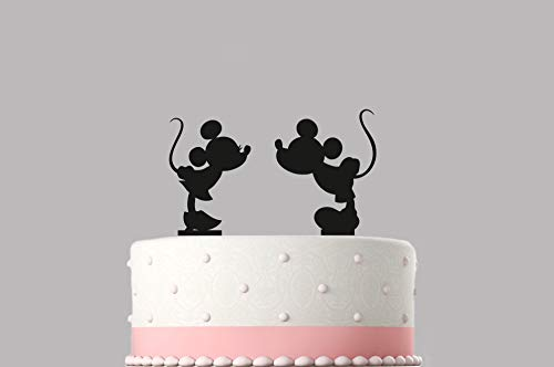 Verjaardag Cake Topper Mickey Mouse Acryl Taart Topper Verschillende Kleuren 120mm Topper Hoge Kwaliteit Item Keepsake Niet Kaart-Stock 431