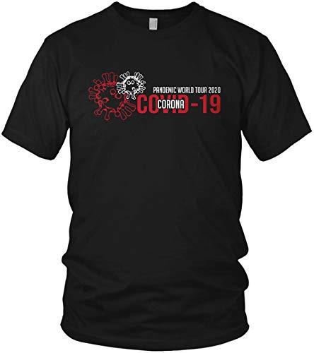 Pandemic World Tour 2020 - Maglietta da uomo Coronavirus 2020 COVID-19 Nero/rosso XL