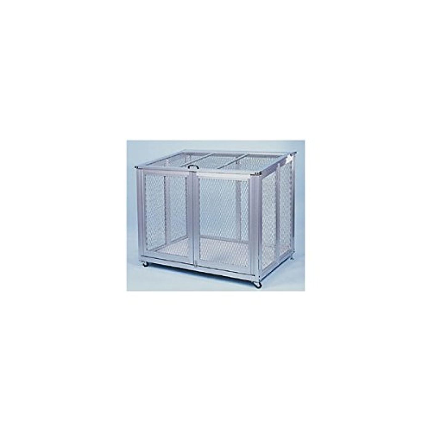 ホイストホイットニー道路カイスイマレン ジャンボアルミメッシュ AT-910 『ゴミ袋(45L)集積目安 20袋、世帯数目安 10世帯』 『ゴミ収集庫』 シルバー