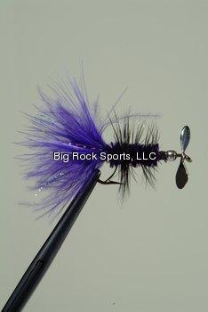 Pistol Pete 06006-2Pk Trout/Panfish Fly, Size 6, Purple, 2-Pack