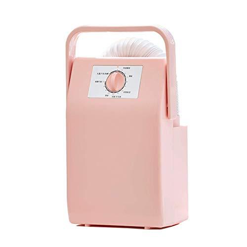 JSONA Secador de Botas Secado de Zapatos eléctrico Ropa del hogar además de ácaros Dispositivo de esterilización Función de temporización de Secado rápido Multiusos, Rosa