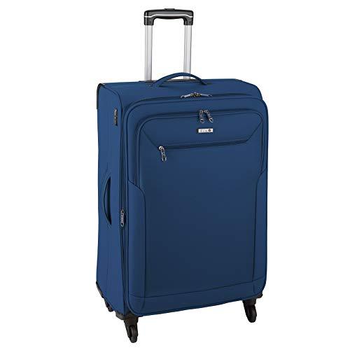 D&N Travel Line 6804 Koffer, 76 cm, 98L, Blau