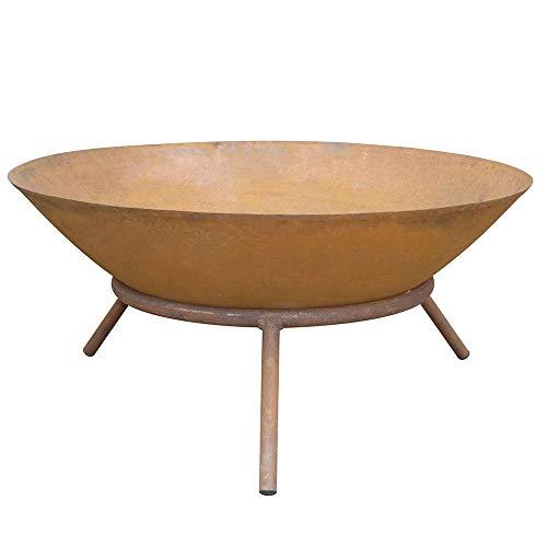 Home Deluxe - Feuerschale in rostoptik - Fire Bowl - Ø 56 cm - inkl. DREI Stahlbeinen