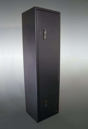 dirty pro tools™ 6 GUN CABINET GREY EXTRA WIDE AND DEEP SAFE 6 GUNS 7 LEVER LOCKS POLICE APPROVED