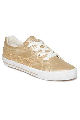 SOCCX Damen Metallic Sneaker Low