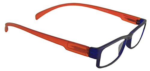 Lesebrille LONG dunkelblau/orange, 2.0