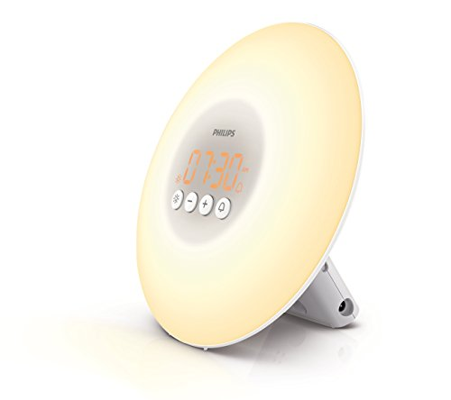 Philips HF3500/60 Wake-Up Light Therapy Alarm Clock with Sunrise Simulation, White