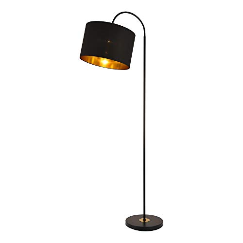 lux.pro Stehleuchte 'Toledo' 173cm E27 max. 60W Stehlampe Design Standleuchte Industrial Stand Lampe Metall Schwarz mit Schnurzwischenschalter Innenbeleuchtung
