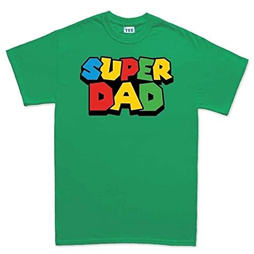 Camiseta de Super papá para Hombre, Camiseta Colorida de Manga Corta Mario L-ui-gi, Regalo del Día del Padre para papá, Camiseta Hipster Cool Tops