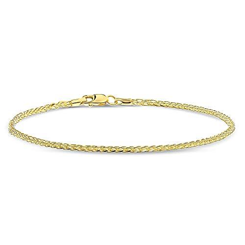Miore gevlochten armband uit 14 karaat geelgoud 585/1000 lengte 19.5cm