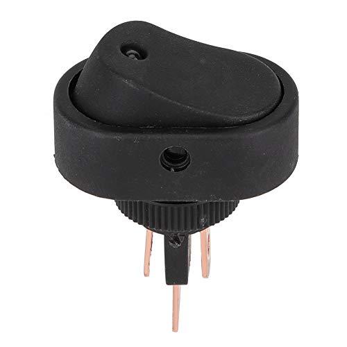 Interruptor de luz, para coche, barco, 3 pines, 12 V, 30 A, eje de balancín SPST, encendido/apagado, LED azul