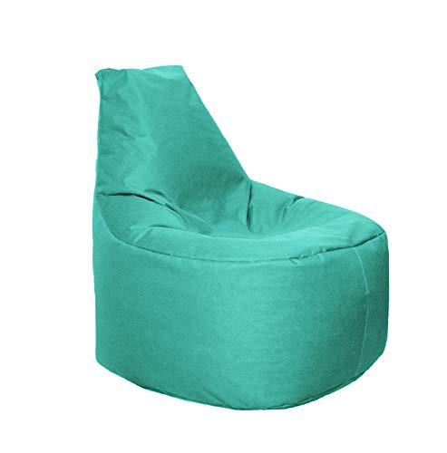 Lacasa Sitzsack XL-XXL Outdoor Indoor- Wasserdicht Wetterfest-Bodenkissen Sitzkissen Beanbag- Erwachsene Kinder- Gaming Sessel- EPS StyroporFüllung- Hochwertiges Oxford 600D (XL - 69 cm Ø, Türkis)