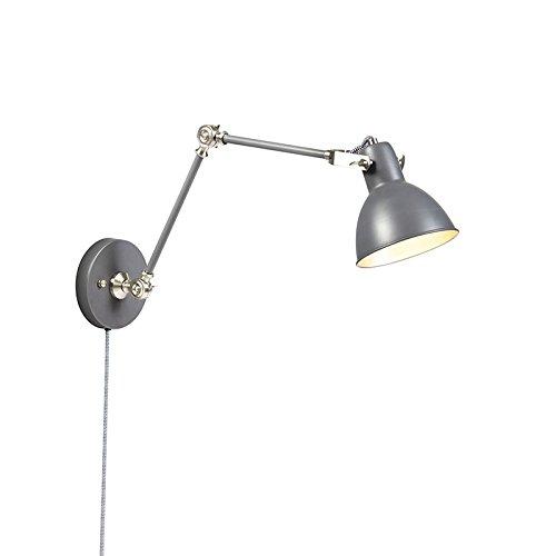 QAZQA Moderno Aplique industrial gris ajustable -