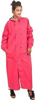 New Era Women's Polyester Reversible Rain Coat (Pink, XXL)