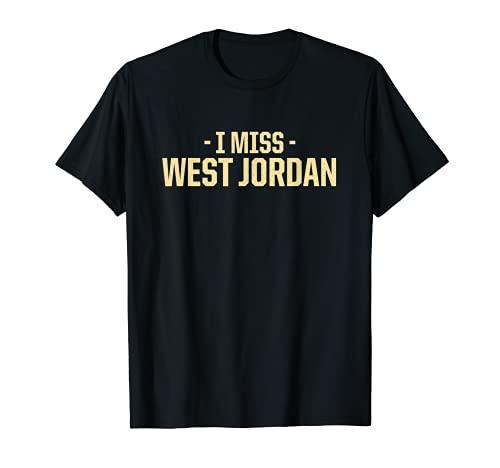 Echo de menos West Jordan Utah American UT USA Residente Ciudad natal Camiseta