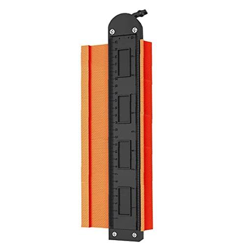 Herramienta perfil de calibre 10 pulgadas de contorno Gauge Duplicadora con el bloqueo de copia Medidor de herramienta de medición de herramientas industriales de Orange