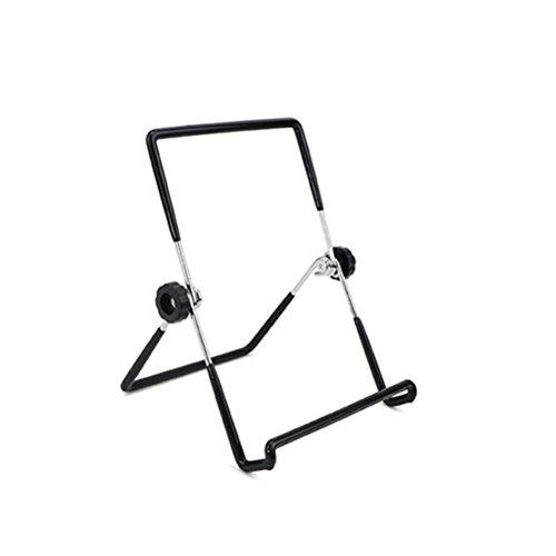 BESTonZON Mason Jar Seed Sprouting lock stående rostfritt stål Sprouting burk ställ telefon iPad surfplatta stativ – L (svart)