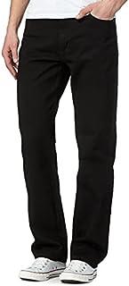 MyShoeStore Mens Original Cotton Jeans Plain Straight Leg Heavy Duty Denim Wash Boys Jean Classic Designer Fit Casual Work...