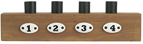 IB Laursen Kerzenständer Holz Zahlen Stillenat Kerzenhalter f.Stabkerzen Advent 7123-14