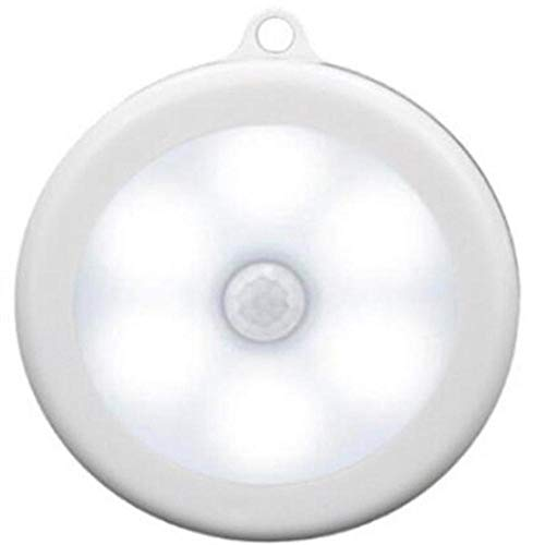 AOA 6 LED Wireless Infrared Human Motion Sensor Night Light Sensing Lights Wall Lamp Closet Cabinet Stairs Automatic Lamps,white