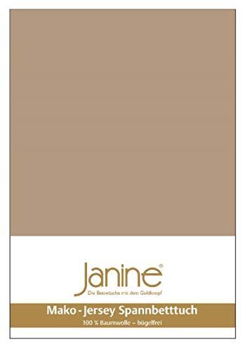 Janine Spannbetttuch 5007 Mako Jersey 140/200 bis 160/200 cm Nougat Fb. 37