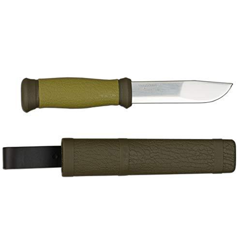 Morakniv Erwachsene Messer Gürtelmesser, Stahl 12C27, Kunststoff-Scheide, mehrfarbig, One Size